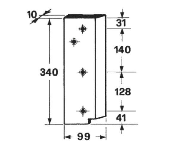 cutit piston presa de balotat claas MARKANT 52, 55, 60, 65