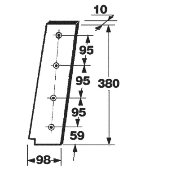 cutit piston presa de balotat gallignani model 8100, 8190